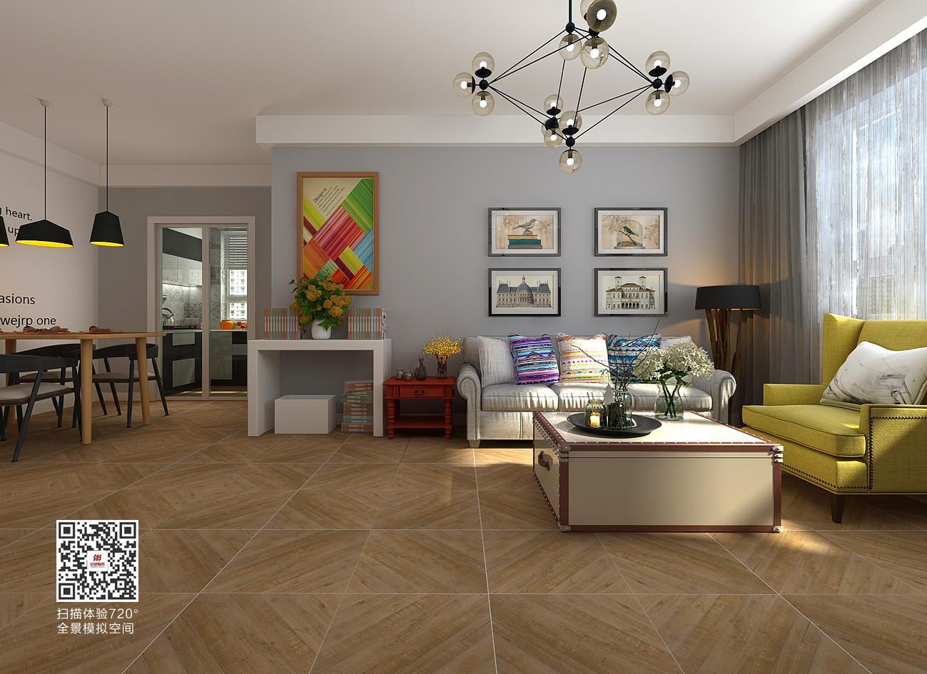 500x500mm木纹砖