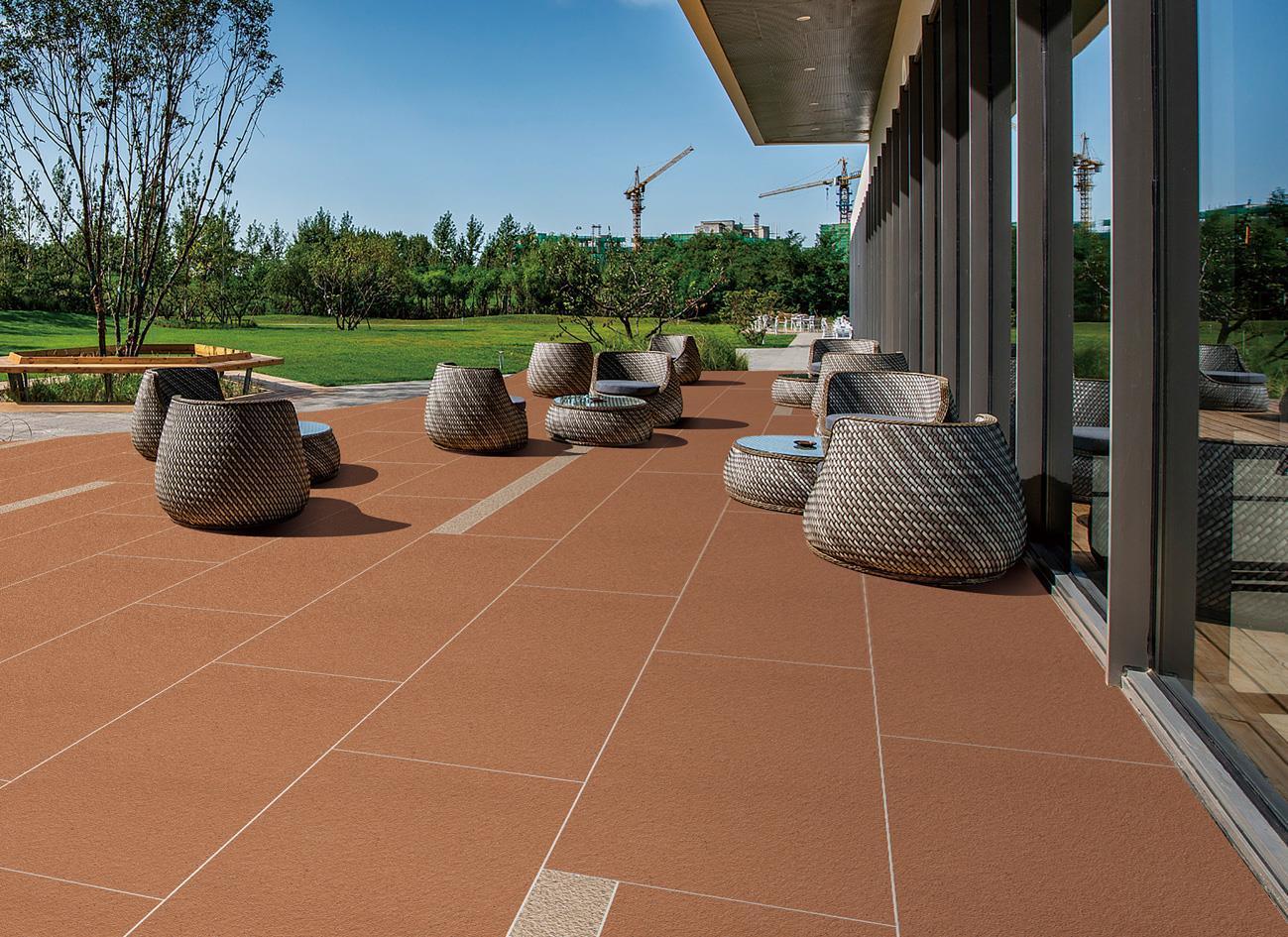室外地坪適合用瓷磚厚板嗎?瓷磚厚板有哪些優點?