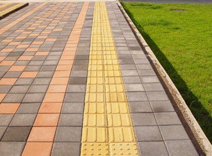 校园人行道铺仿花岗岩生态地铺石可以吗?