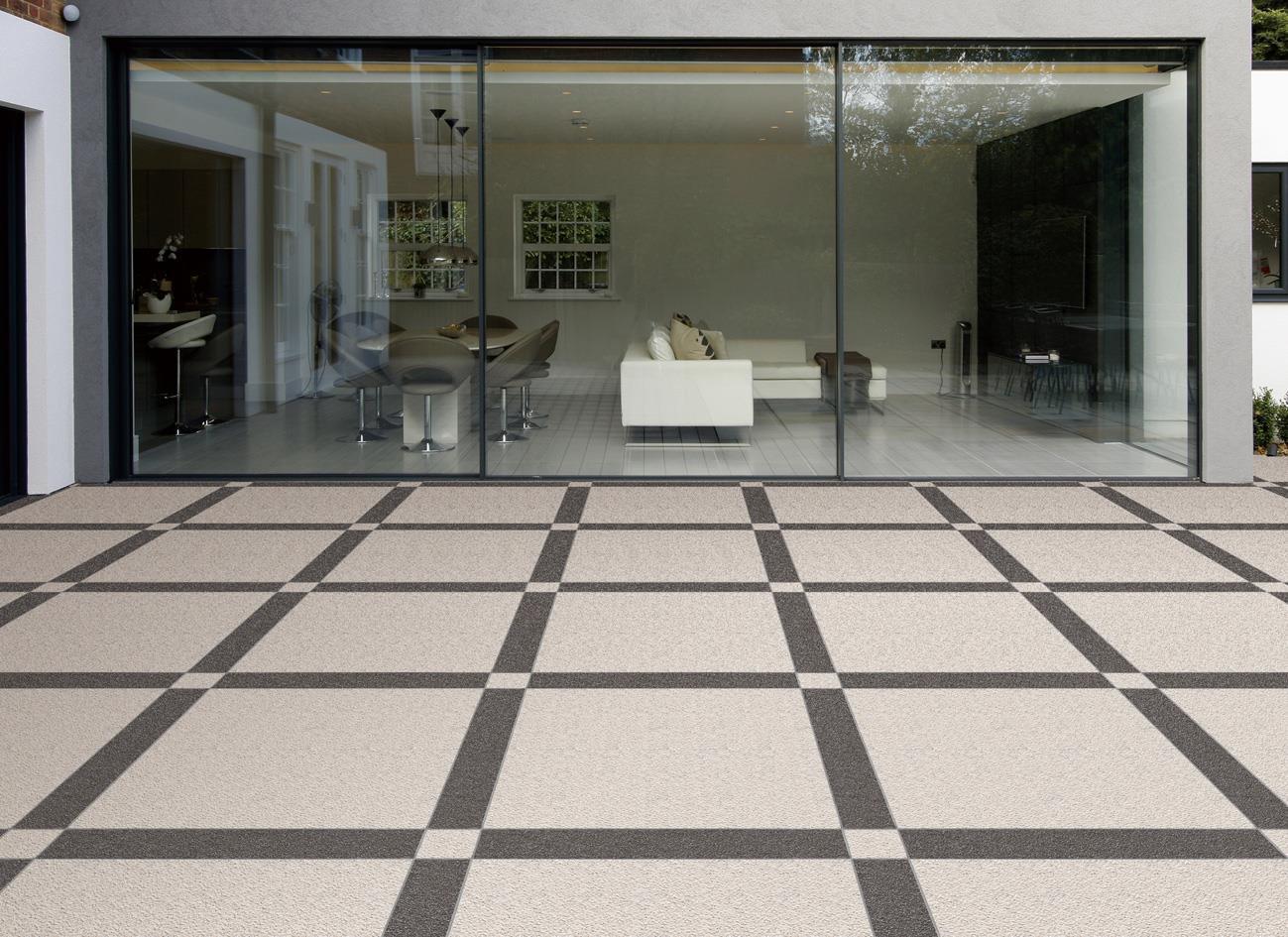 户外地面瓷砖厚板的两种铺贴方式介绍